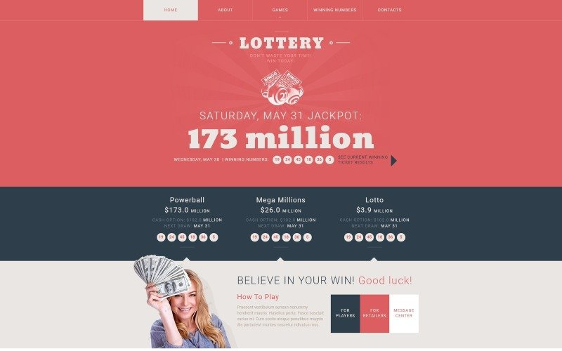 Адаптивный шаблон веб-сайта онлайн-казино