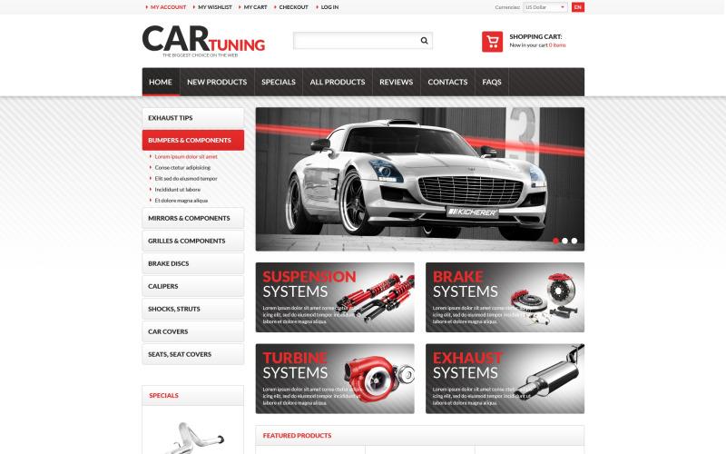 Car Tuning ZenCart Template