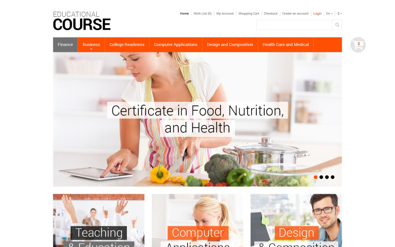 Educational Courses OpenCart Template