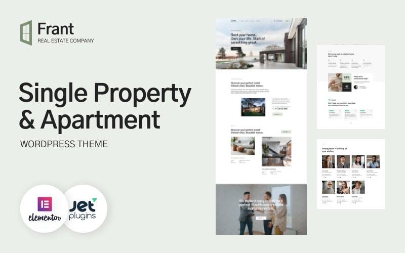 Frant - Single Property & Apartment WordPress Theme buildwall
