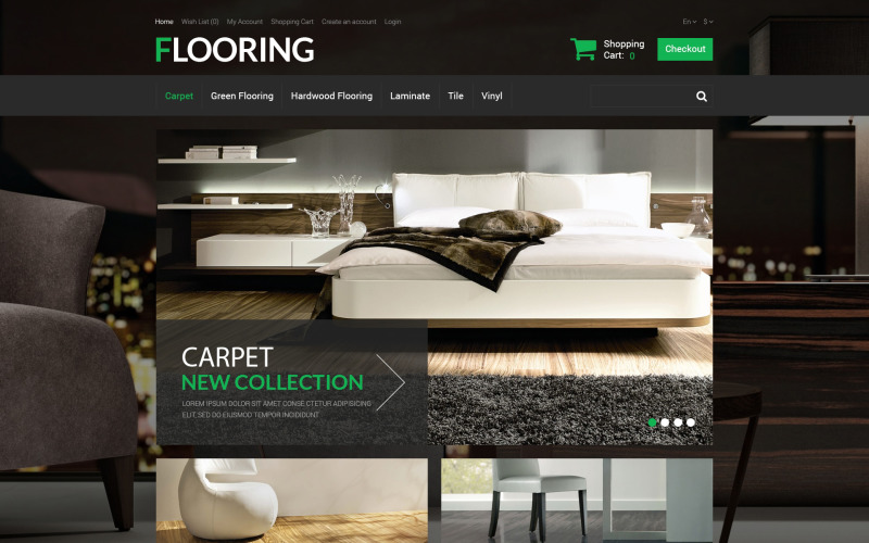 New Flooring OpenCart Template