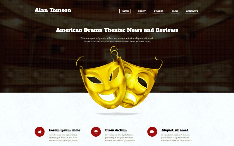 Theaterresponsief WordPress-thema