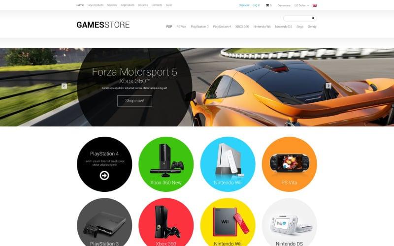 Games ZenCart Template