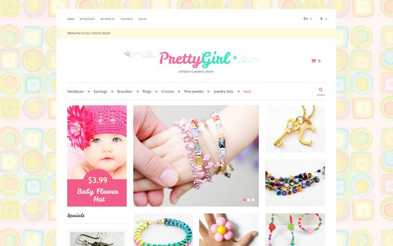 Kids Jewelry Magento Theme