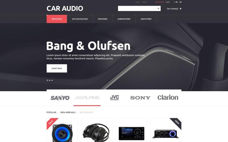 PrestaShop-tema för bilstereo