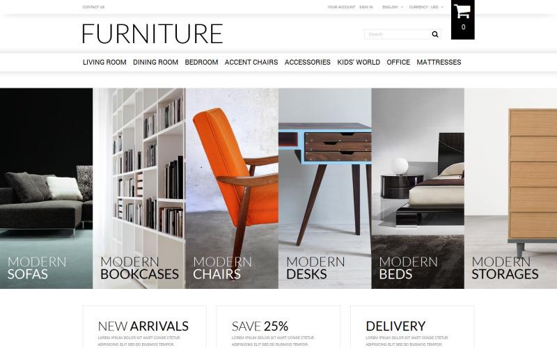 Prodej nábytku online s tématem PrestaShop