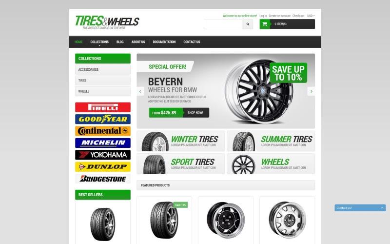 Тема Shopify Автомобильные шины