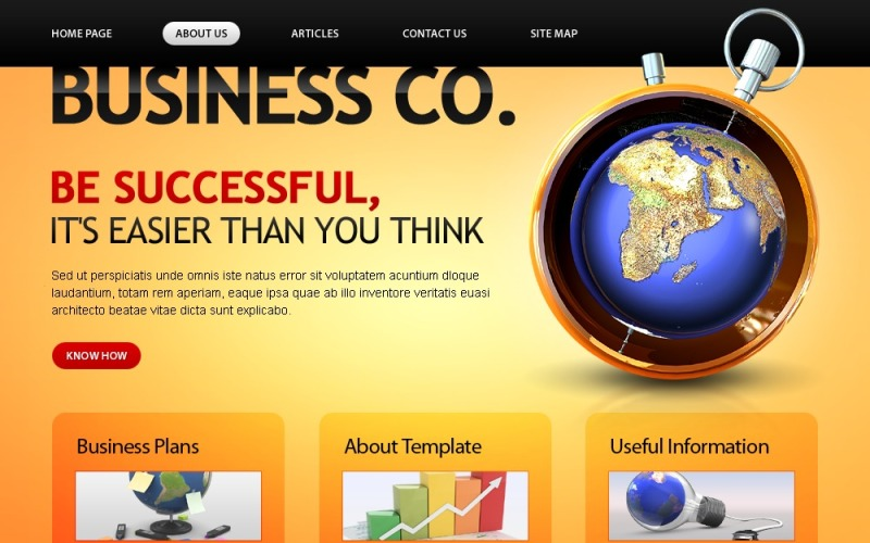 Free Business Company Template Website Template