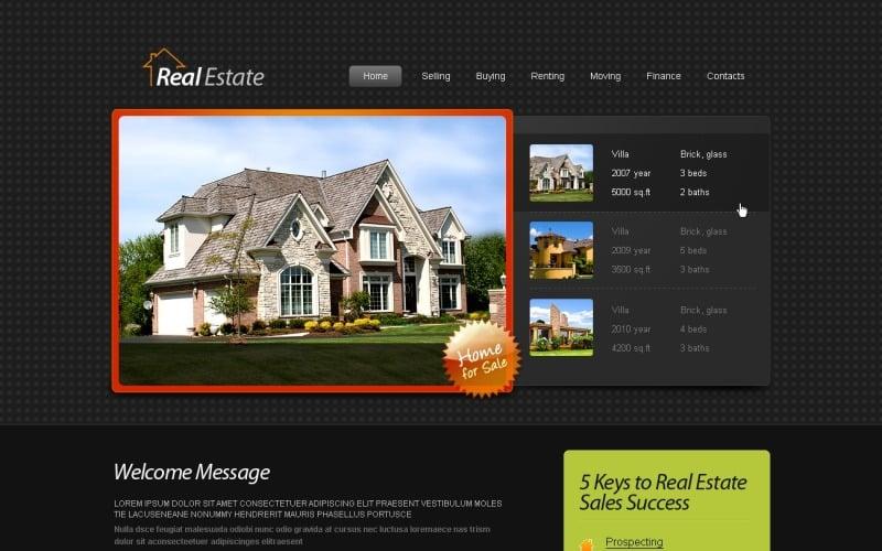 Free HTML5 Template - Real Estate Website Website Template