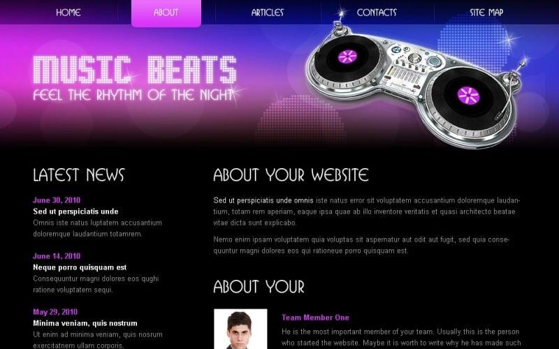 Free HTML5/CSS3 Template - Music Website Template