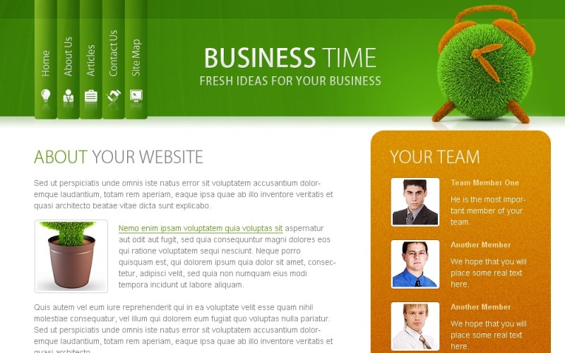 Free Website Template - Business Time Website Template