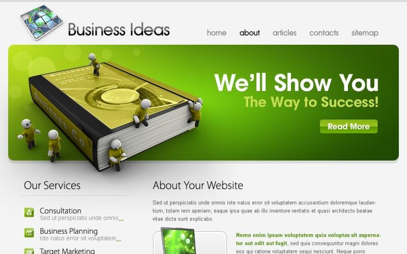 Kostenlose Vorlage Business Ideas Website-Vorlage