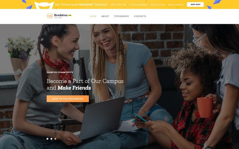 Kostenlose Website Vorlage für Bildungsprojekte