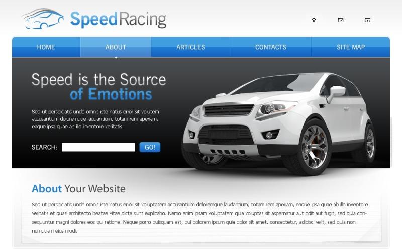 Kostenlose Website Vorlage für ein Autorennen