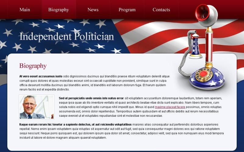 Kostenlose Website Vorlage für Politik