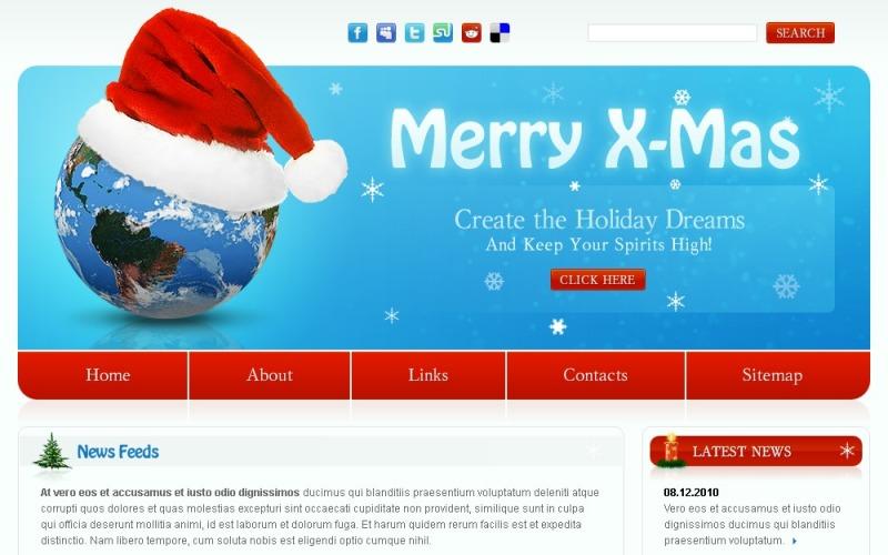 Kostenlose Website Vorlage für Weihnachten