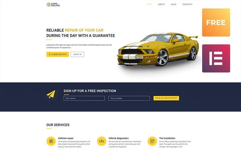 Free Car WordPress theme