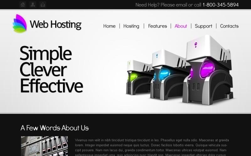 Free Hosting Website Template