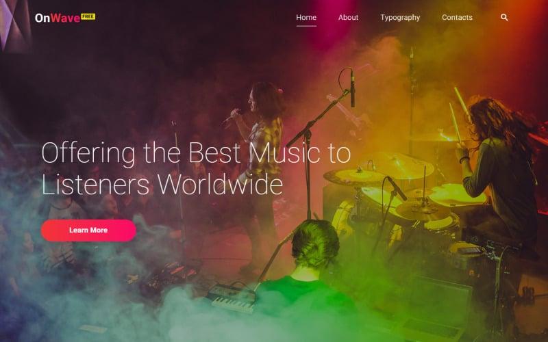 Free HTML5 Music Website Template