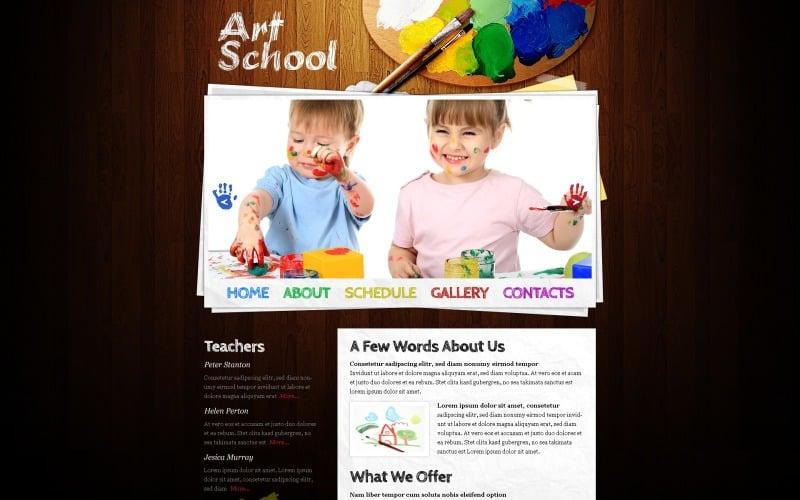 Free Website Template - Art School Website Template