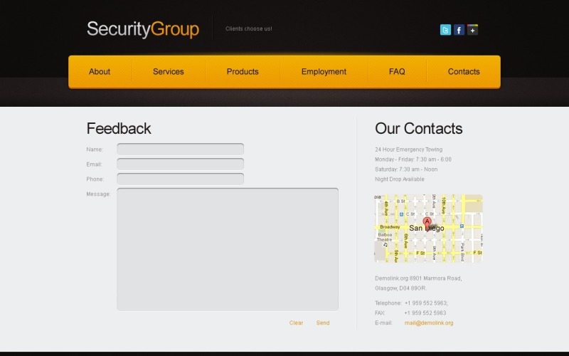 Free Website Template for Security Project Website Template