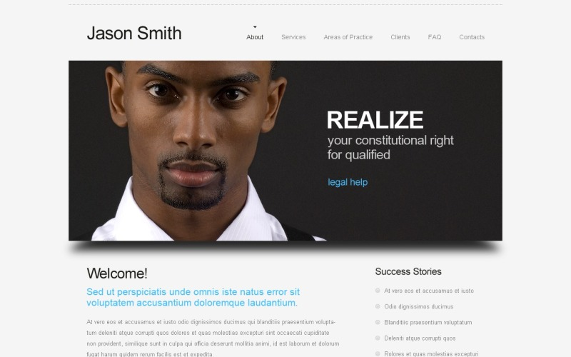 Free Website Template - Law Company Website Template