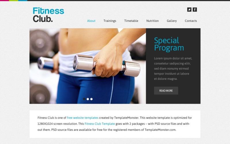 Ingyenes webhelysablon - Fitness Club webhelysablon