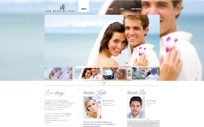 Kostenlose Hochzeitsvorlage Website-Vorlage