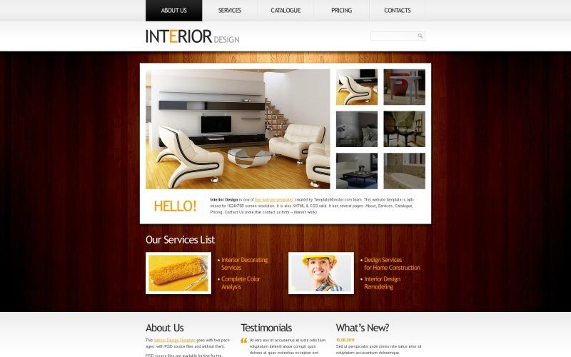 Kostenlose Website-Vorlage Clean Style - Interior Website-Vorlage