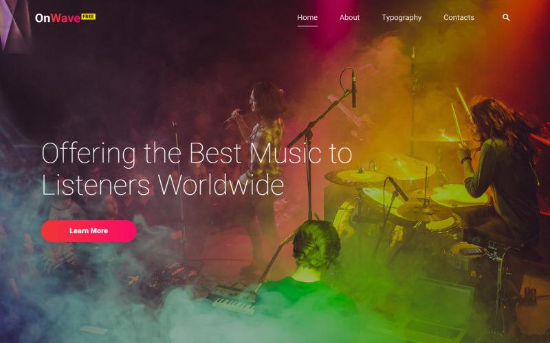 Kostenlose Website Vorlage mit jQuery Slider für ein Musik-Projekt