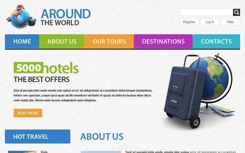 Kostenlose Website Vorlage zum Thema Reisen