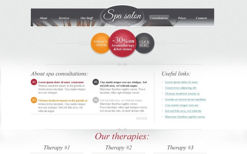 Kostenloses HTML-Thema für die Website-Vorlage der Spa Salon-Website