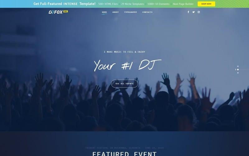 Modello di sito Web musicale gratuito
