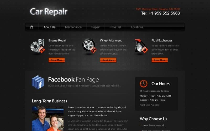 汽车/汽车网站的免费网站模板网站模板