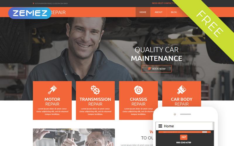Autójavítás - autójavítás Ingyenes modern Joomla sablon