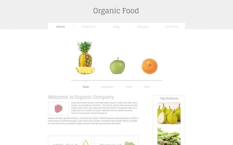 Bio-Lebensmittel Kostenlose HTML5-Vorlage Website-Vorlage