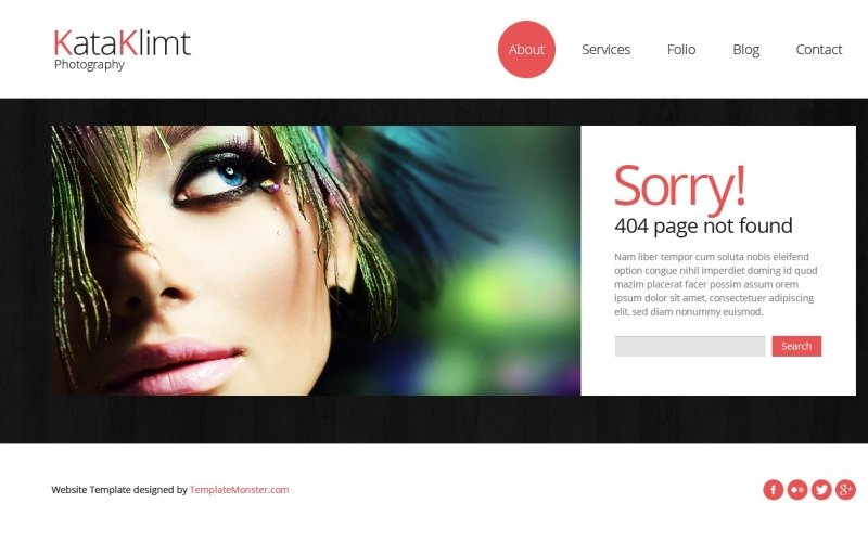 Bootstrap Free Responsive Template Photography