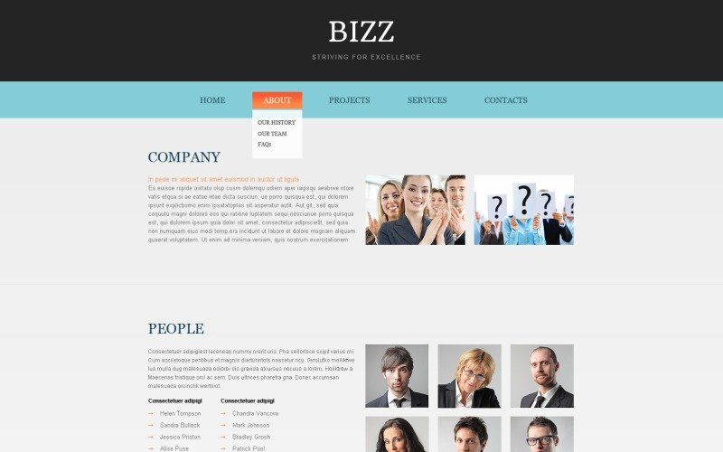 Free HTML5 Business Theme Website Template
