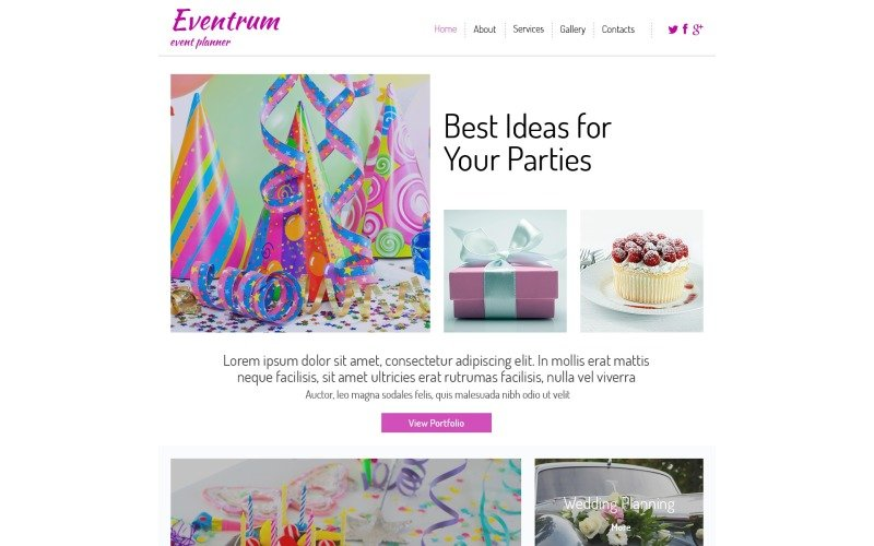 Free HTML5 Theme for Entertainment Site Website Template