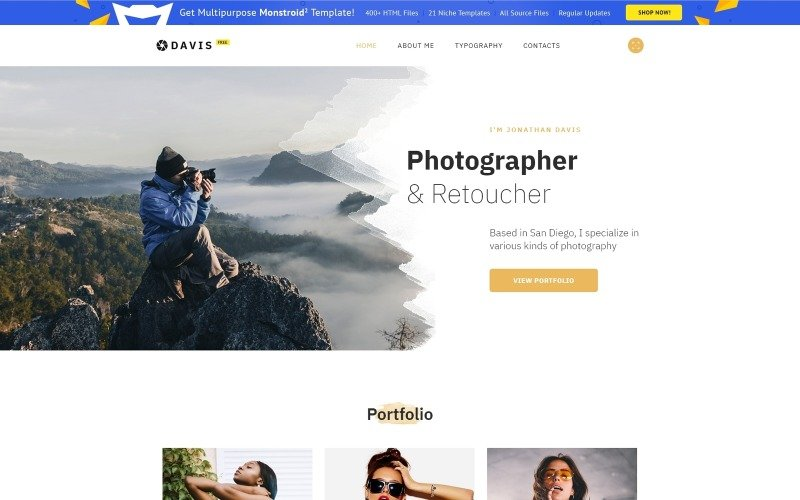 Free HTML5 Theme for Photo Site Website Template