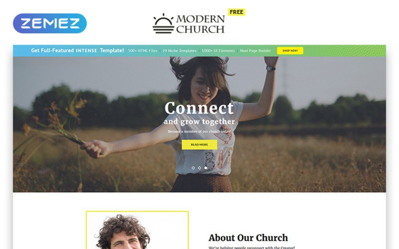 Free HTML5 Theme for Religious Site Website Template