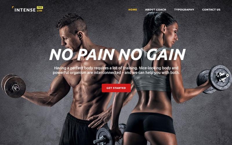 Gratis HTML5-thema voor websitesjabloon voor sportsites