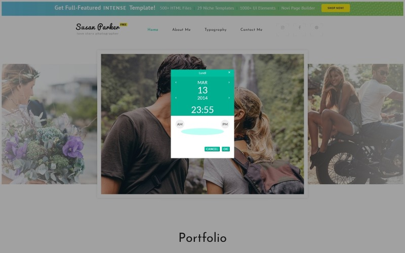 Gratis responsief HTML5-thema voor websitesjabloon voor fotosites