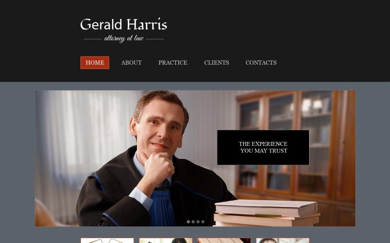 Gratis websitesjabloon - Website-sjabloon voor advocatenkantoren