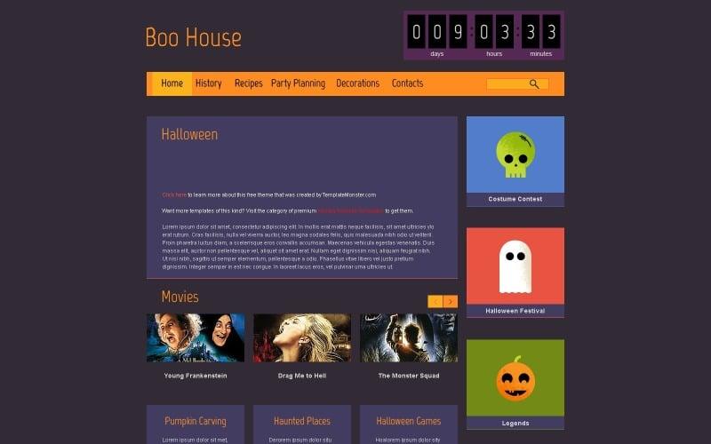 Halloween Free HTML5 Theme Website Template