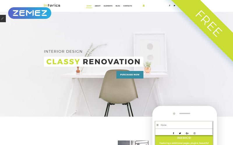 Interics - Plantilla Joomla limpia y gratuita de diseño de interiores