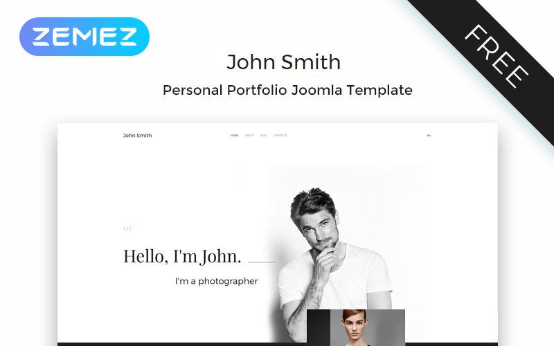 John Smith - osobní stránka Elegantní šablona Joomla