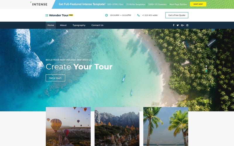 Kostenlose jQuery Travel Theme Website-Vorlage