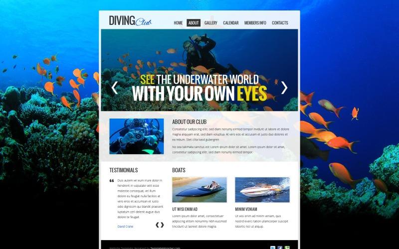 Kostenlose Website-Vorlage - Diving Club Website-Vorlage