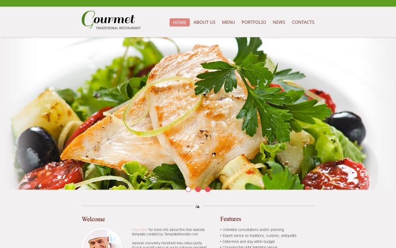 Kostenlose Website-Vorlage - Restaurant-Website-Vorlage